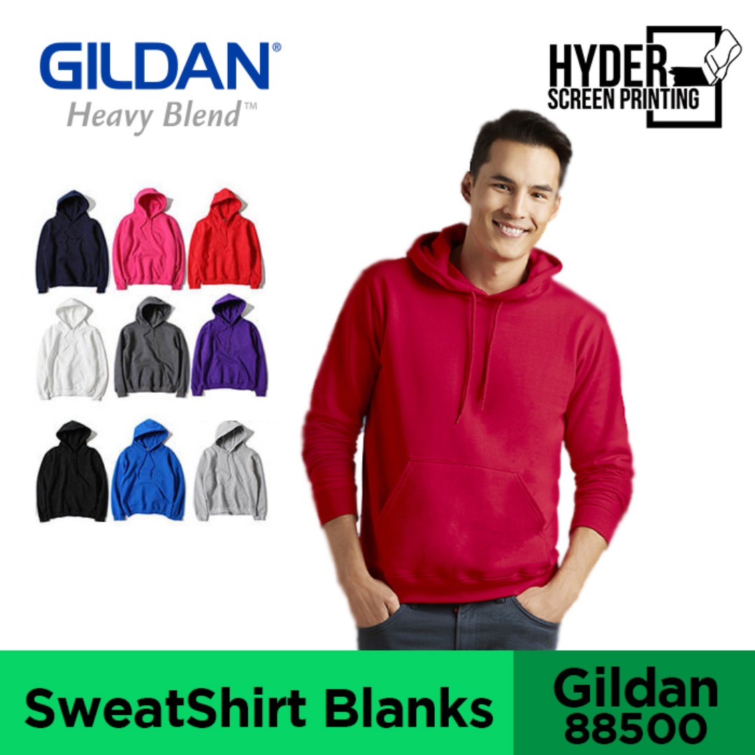 SilkScreen Printing - Gildan® Heavy Blend™ Adult Hooded Sweatshirt (XS-XXL)  Blank