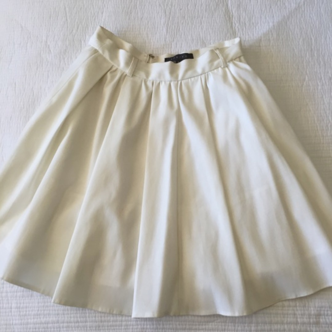 Sheike pleat skirt - white