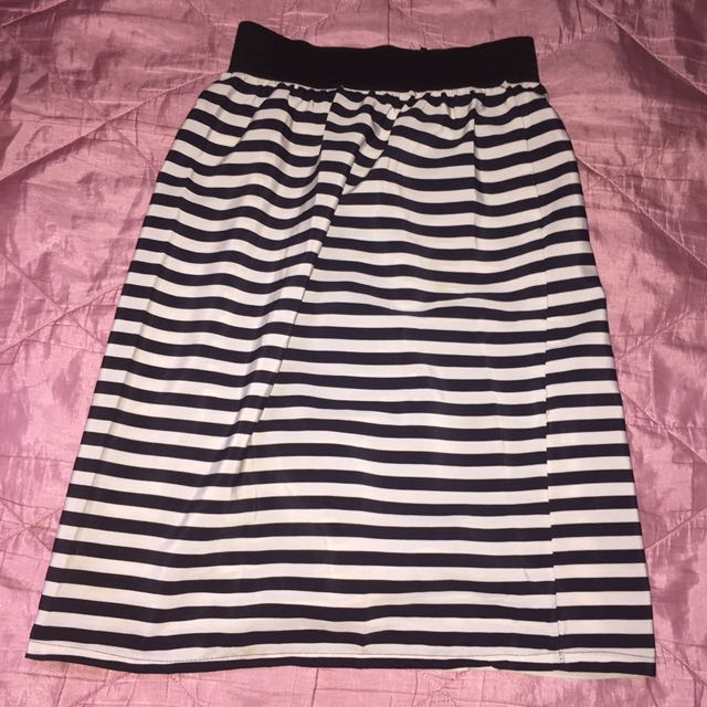 Skirt Black White
