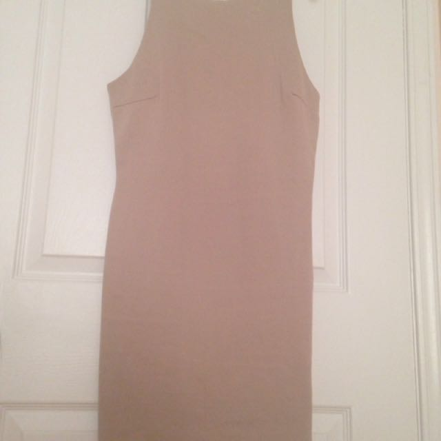 Slim Fit Nude Dress