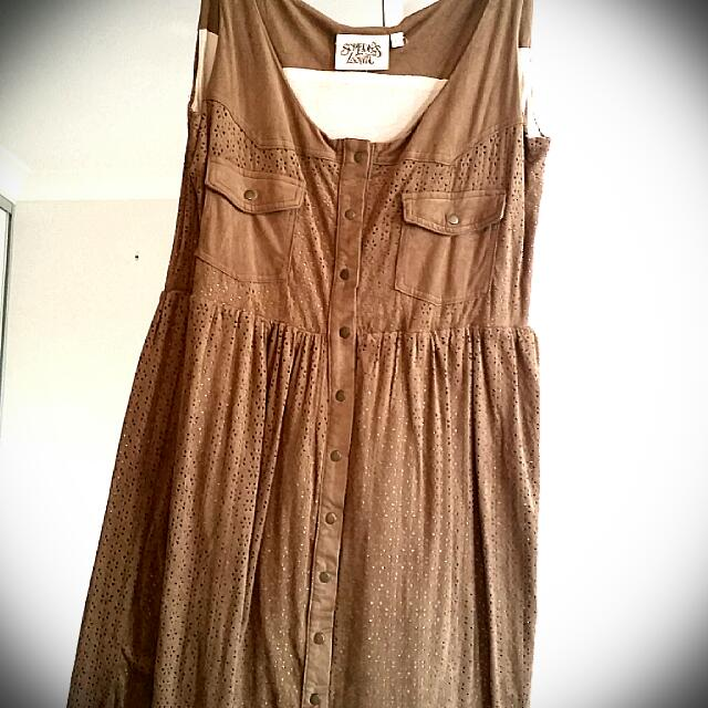 Somedays Lovin Vintage Suede Look Dress