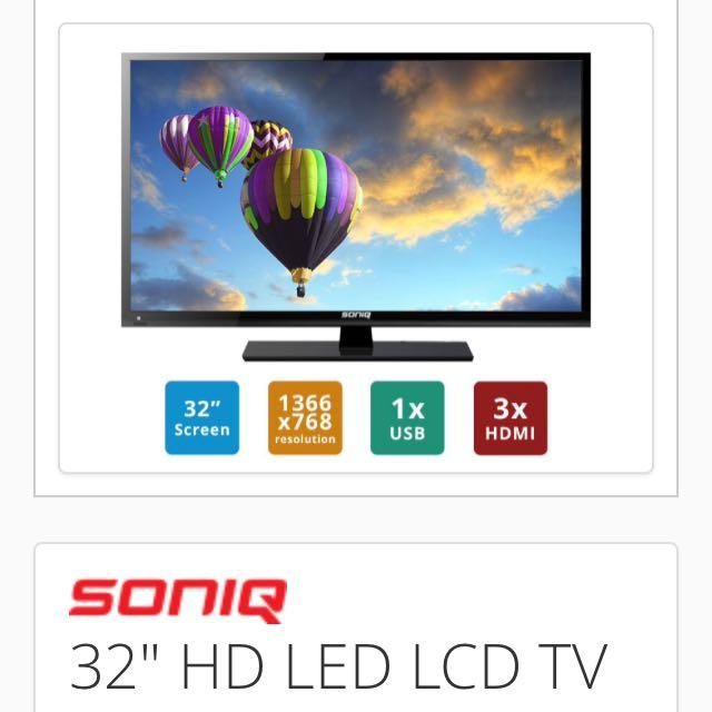 """Soniq 32"""" LED LCD TV"""