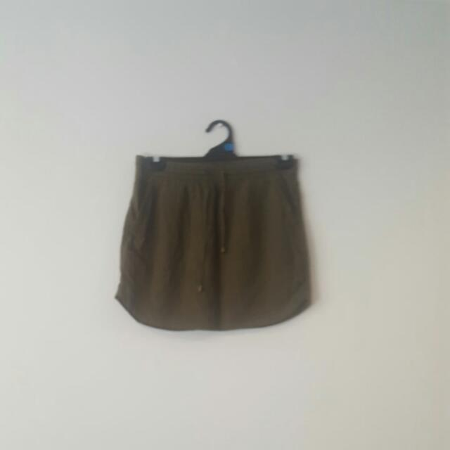 REDUCED Sportsgirl Khaki Skirt