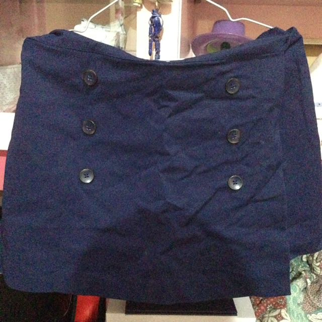 [STRADIVARIUS] Navy Skirt