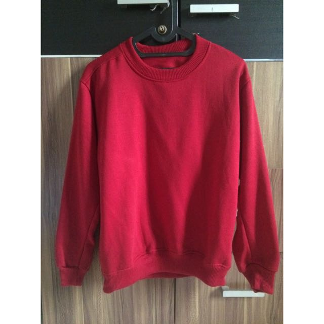 Sweater Polos Merah Like New
