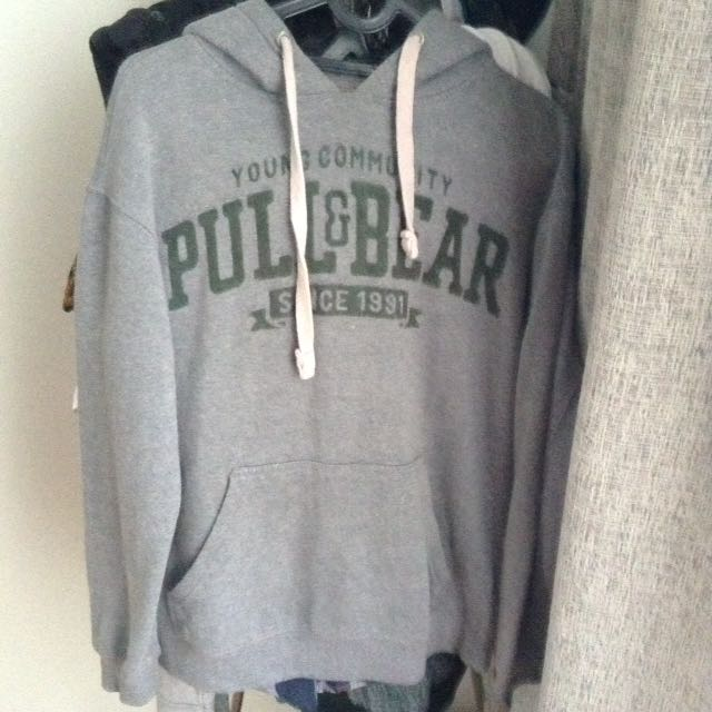 Sweater Pull & Bear Abu-Abu