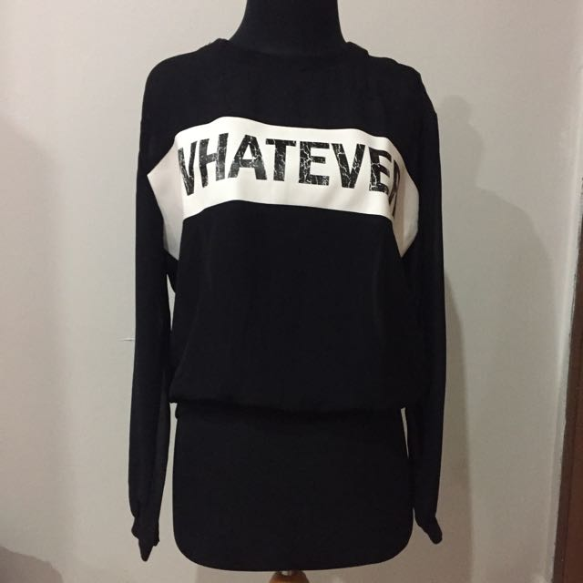 """Whatever"" Sheer Sweater"