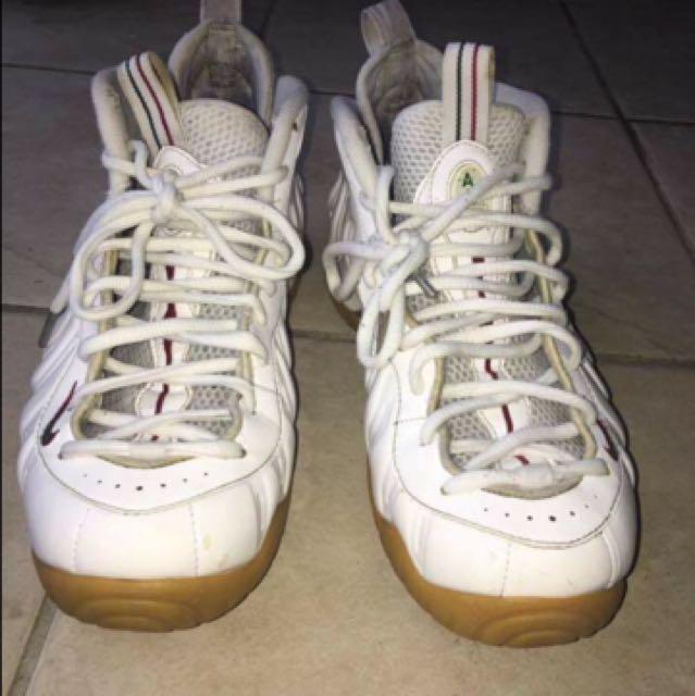 White Gucci Foamposites
