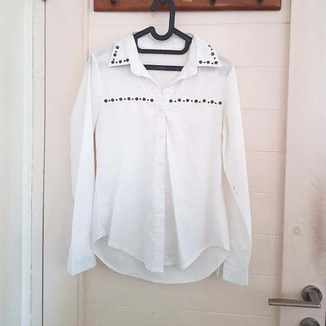 White Shirt Studded