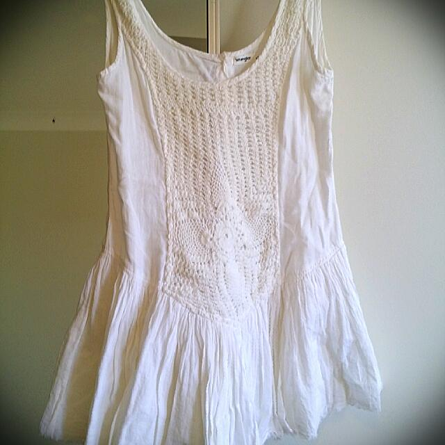 Wrangler Ladies White Lace Dress