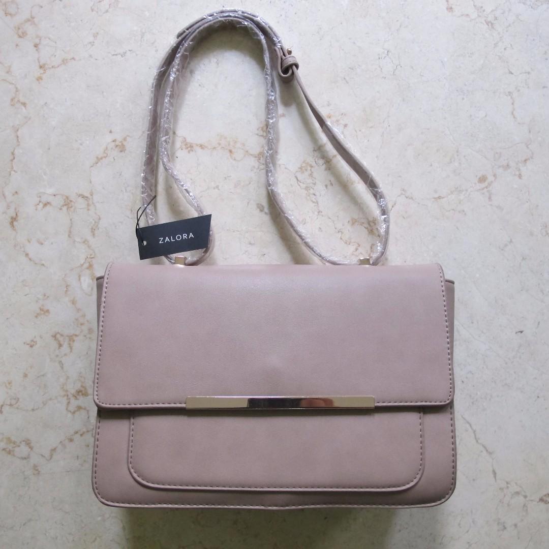 Zalora Metal Bar Double-Lengthhand Bag (Free Ongkir Jabodetabek Bandung)