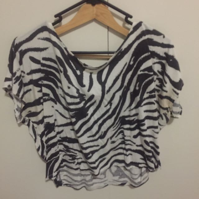 Zebra Crop T-shirt