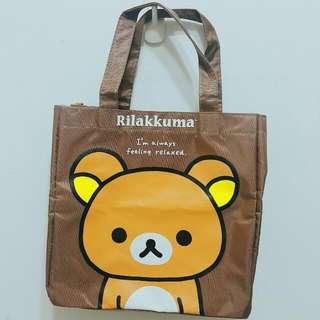 (99免運)拉拉熊造型手提袋 便當袋 懶懶熊 Rilakkuma拉鍊式餐袋 收納外出袋 外出包 可面交 議價 換物