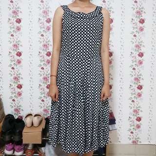 Long Dress Polkadot Rample