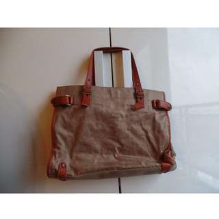 Vintage Ladies Leather tote bag