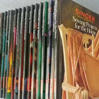 Set Of 21 Singer Sewing Books