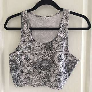 Black & White Crop Top