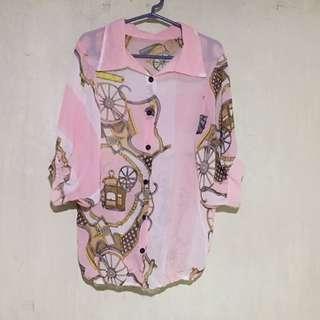 See-Through Polo blouse