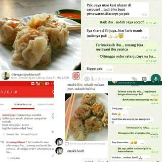 Halal Dimsum Kepiting, Ayam, Jamur, Wortel, Cumi, Black Paper, Udang.