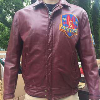 AUTHENTIC QUEENS UNIVERSITY BIKER JACKET