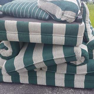 Green & Grey Sofa Like New