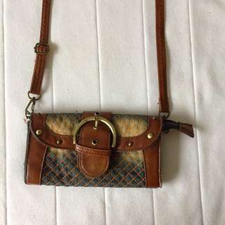 Leather With Denims Bag