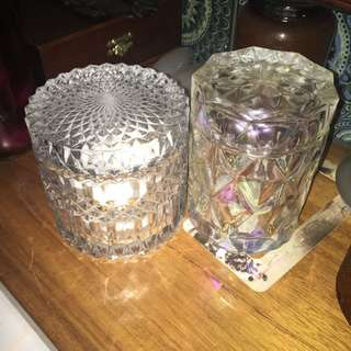Crystal Like Containers With Lids