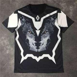 Marcelo Burlon wolf Race 2016 T Shirt