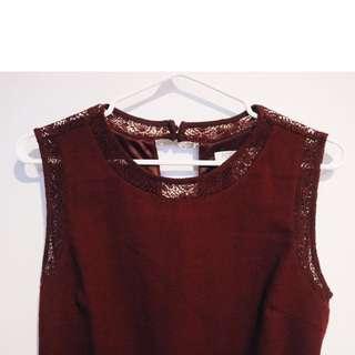 Oxblood Formal Dress