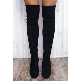 THERAPY HANGOVER Thigh High Boots Size 7 Australian