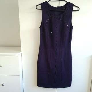 Pagani Purple Bodycon Dress