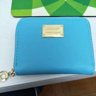 NEW Light Blue Mini Purse Wallet