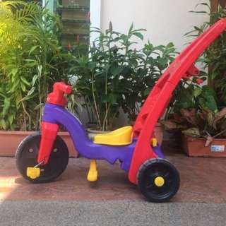 Fisher & Price Push Or Ride Tricycle