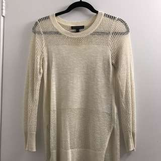 Banana Republic Open knit long sweater with side slits