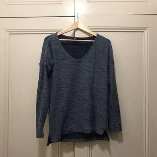 Paige Denim Knit Sweater- Reversible