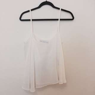 Zara Flowy White Top