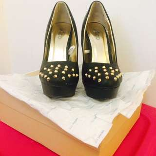 Studded Black Pumps