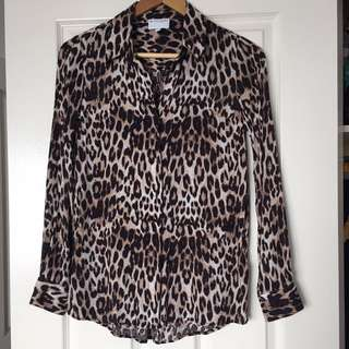 Witchery Leopard Print Blouse