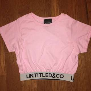 untitled and co crop top