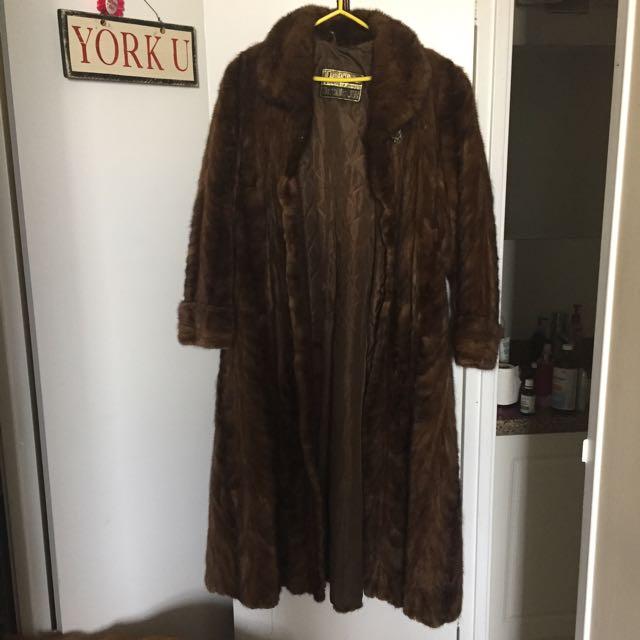 100% Real Mink Coat
