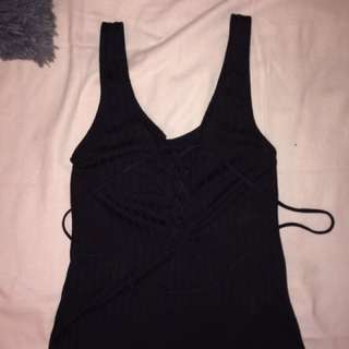 Urban Outfitters Lace Up Crop Top