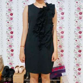 #bersihkanlemari GAUDI 3D Black Dress Size L