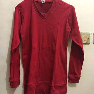 CK Red Long Shirt
