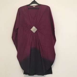 Purple Black Ombre Tunik Dress