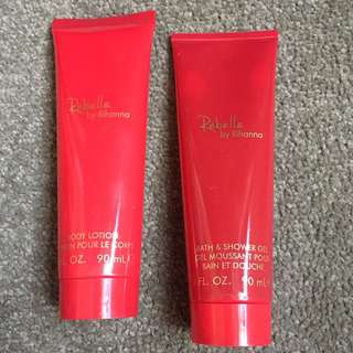 Rihanna Rebel Moisturiser and Bath Gel