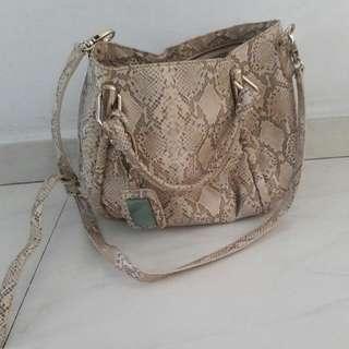 Charles N Keith Snake Skin Print Bag