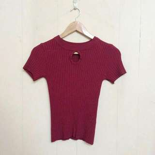 Fit Red Blouse