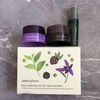 Innisfree 綠茶精華 蘭花 火山系列 sample set