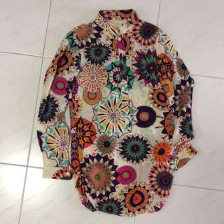 PL Flower Print Top