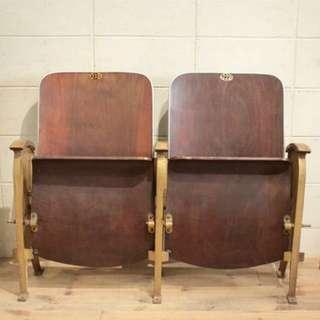 1920年代戲院/電影院木製坐椅 Cinema Wooden Chair